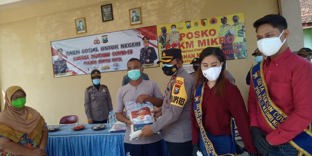 Polres Kediri Kota Distribusikan Bansos Kepada Para UMKM