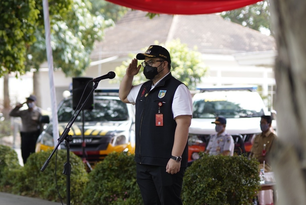 Bupati Kediri, Pimpin Apel Gelar Pasukan Antisipasi Bencana