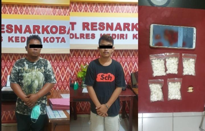 Miris,Pelajar di Kediri Tertangkap Unit Satresnarkoba Polresta Kediri